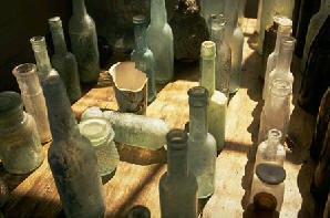 photo of old bottles